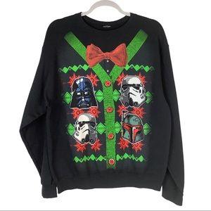 Star Wars Pullover Fleece Sweatshirt UGLY Holiday